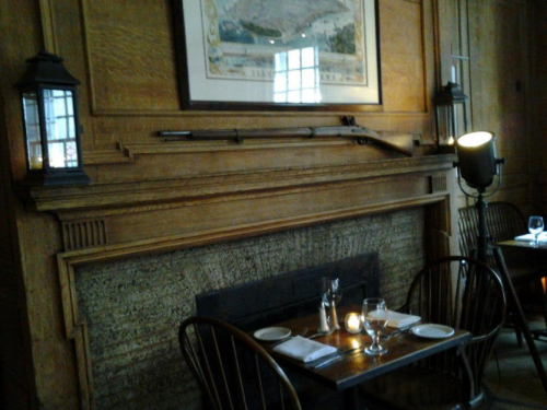 Nothing says ambiance like a gun on the wall.